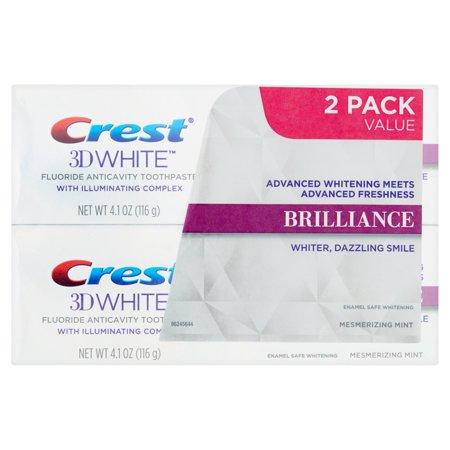 blanc 3D Brilliance Envoûtant Mint Dentifrice blanchissant 41 oz 2 pk