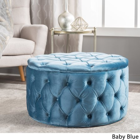 Remarkable Zelfa Round Tufted Velvet Ottoman Gmtry Best Dining Table And Chair Ideas Images Gmtryco