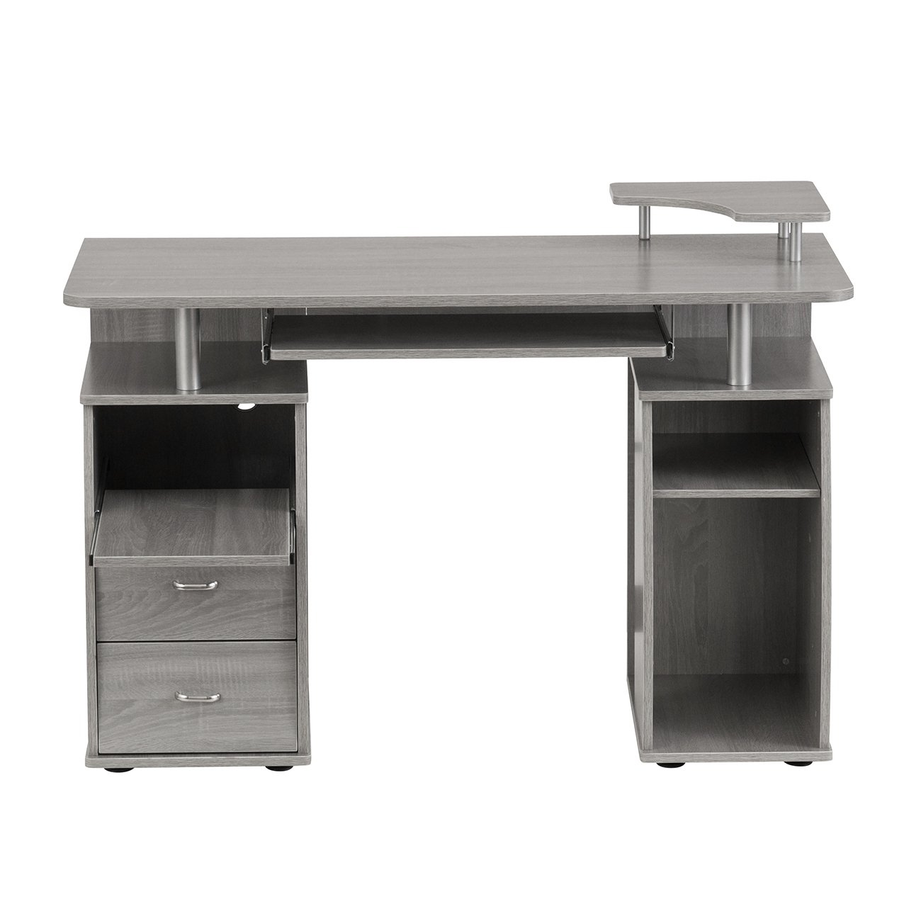 Techni Mobili Complete Computer Workstation Desk With Storage Grey 815764015043 Ebay