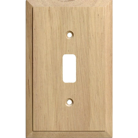 Traditional Unfinished Wooden Toggle Light Switch Cover