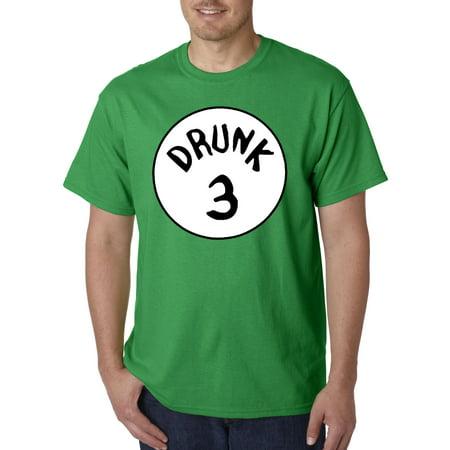 087 - Unisex T-Shirt Drunk 3 Three Thing Dr Seuss (Drunk Drinking T-shirt)