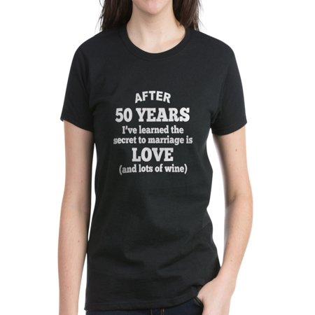 CafePress - CafePress - 50 Years Of Love And Wine T Shirt - Women s Dark T- Shirt - Walmart.com e2ec95555
