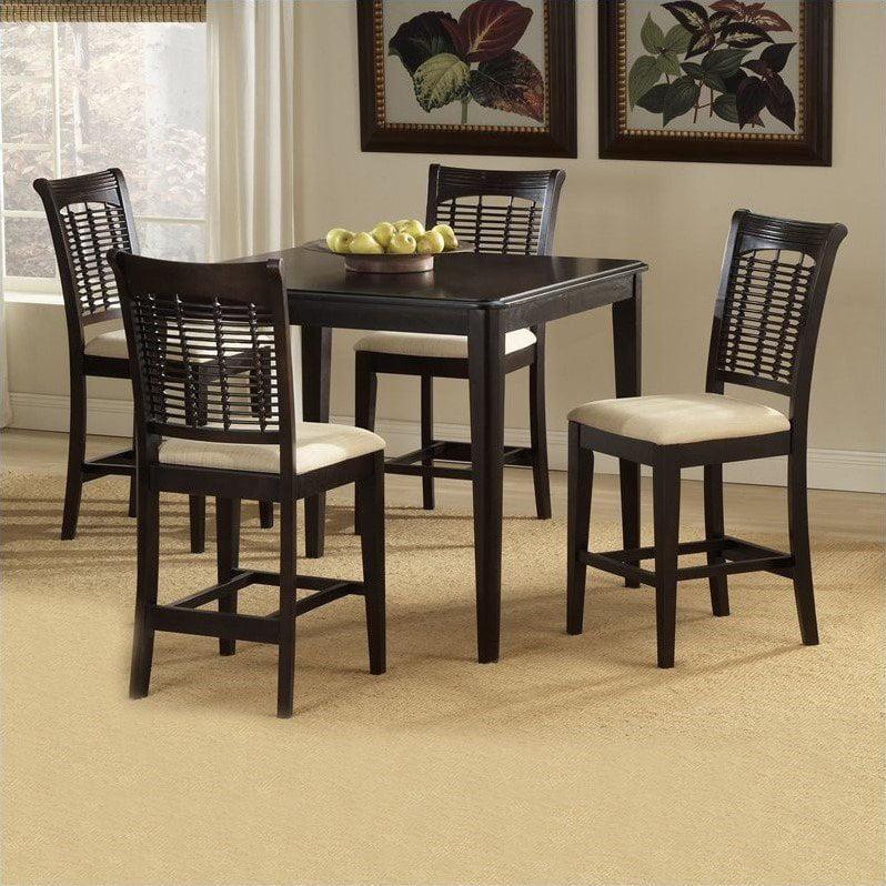 Hillsdale Furniture Bayberry 5-Piece Counter Height Dining Set, Dark Cherry