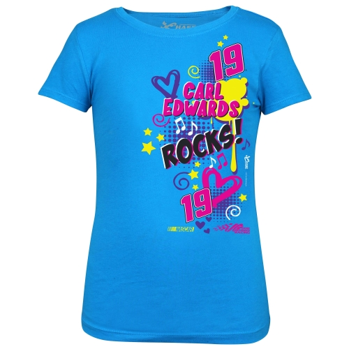Carl Edwards Chase Authentics Girls Youth Groove T-Shirt - Turquoise