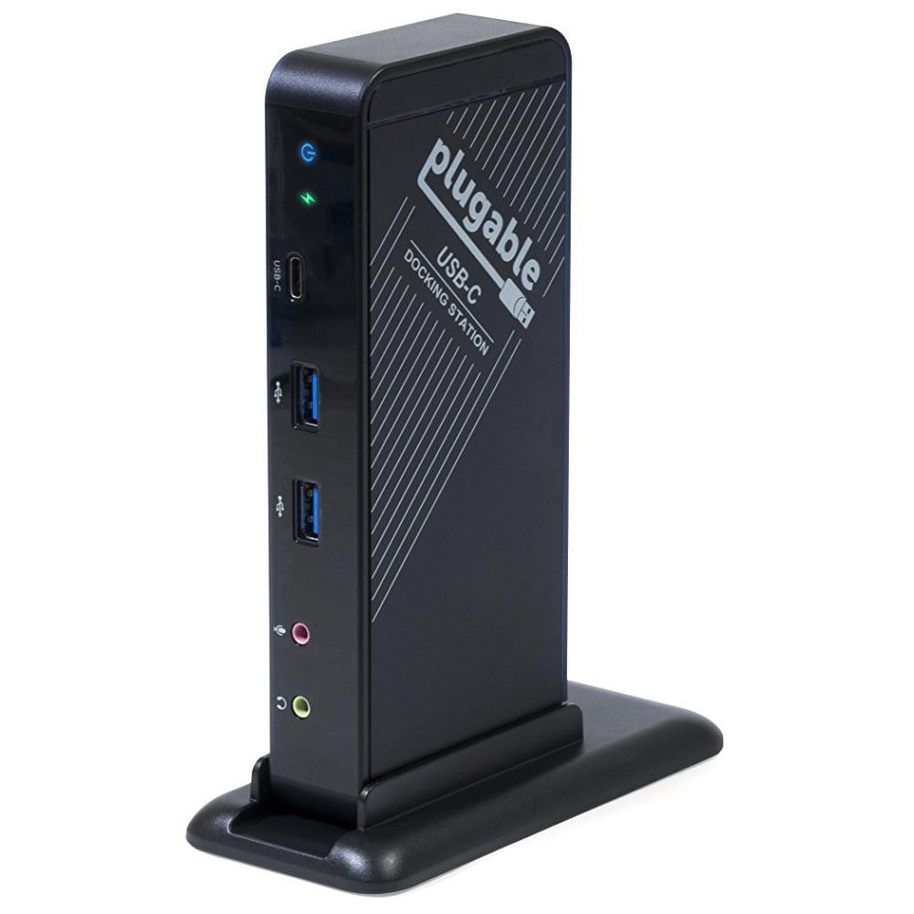 PLUGABLE USB-C DOCKING STATION HDMI ETHERNET USB AUDIO POWER