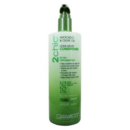 2Chic Avocado & Olive Oil Ultra-Moist Conditioner - 24 fl. oz. by Giovanni (pack of