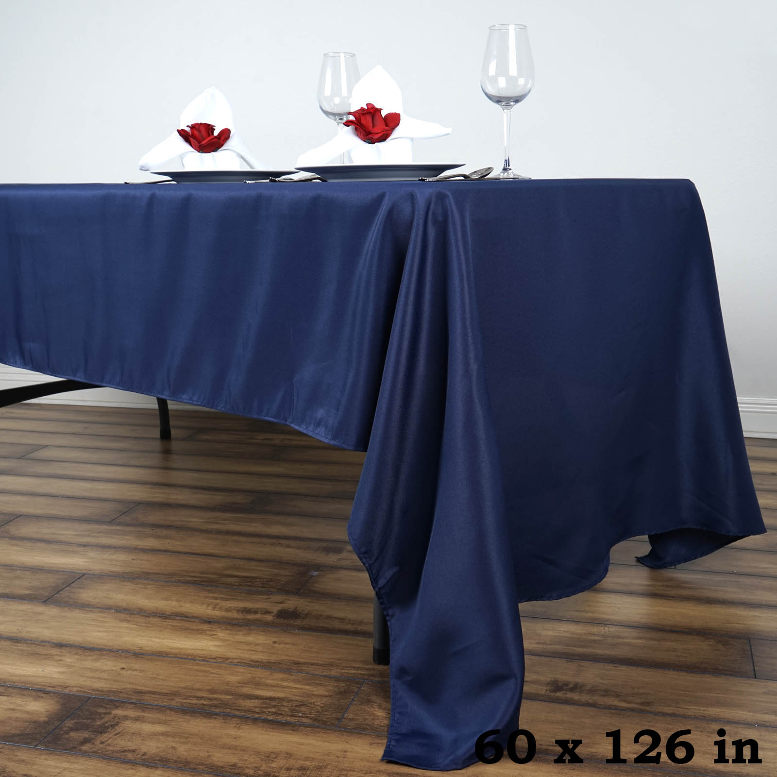 """Efavormart 60x126"""" Polyester Rectangle Tablecloths for Kitchen Dining Catering... by"""