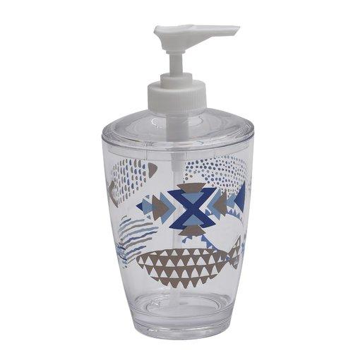 Evideco Nautical Clear Acrylic Bathroom Soap Dispenser