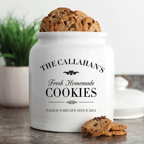 Personalized Fresh Homemade Cookies Cookie Jar