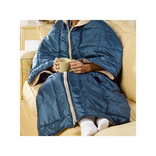 Deluxe Comfort I Cozy 3 In 1 Fleece Wrap Couch Blanket