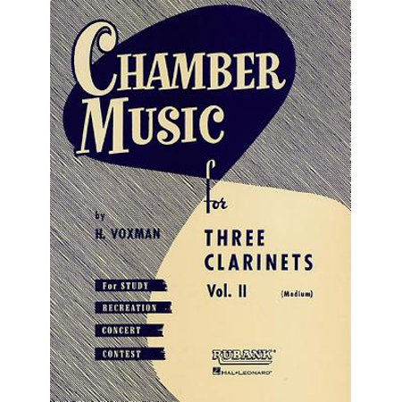 Chamber Music for Three Clarinets, Vol. II : (Medium)](Easy Halloween Music For Clarinet)