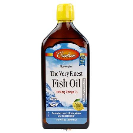Carlson the very finest fish oil liquid omega 3 lemon for Carlson fish oil liquid