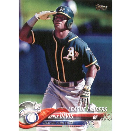 2018 Topps #169 Khris Davis Oakland Athletics Baseball Card