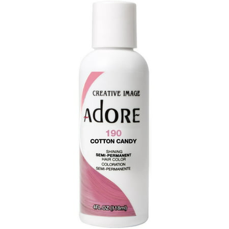 2 Pack - Creative Images Systems Adore Semi-Permanent Haircolor, [190] Cotton Candy 4 oz