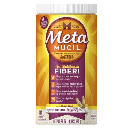 Metamucil Psyllium Fiber Supplement by Meta Original Coarse Powder, 29 oz, 114 doses