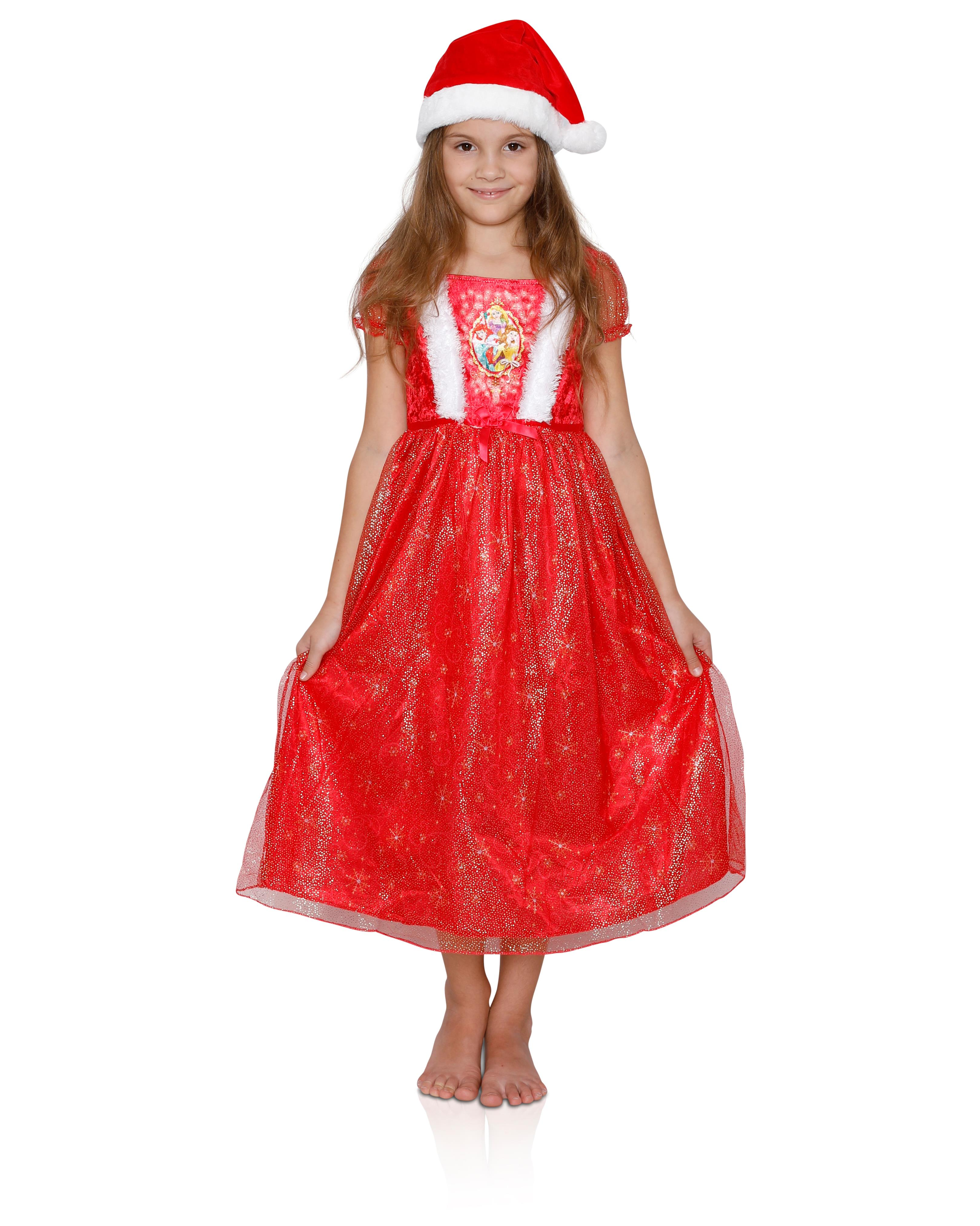 Disney Girls' Fantasy Nightgowns, Dressy Holiday Gowns, Princess Dress With a Hat, Size: 8