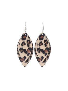 7ea5e4c40 Product Image New Women Men Leopard Leather Teardrop Earrings Bohemia  Dangle Drop Jewelry Gift Blue