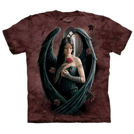Angels Print T-shirt - Anne Stokes- Angel Rose Apparel T-Shirt - Brown