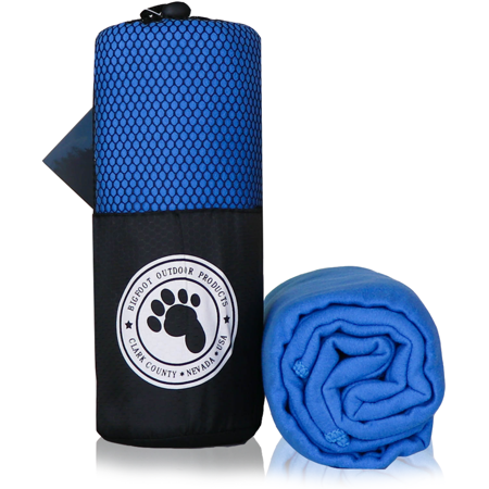 Bigfoot Outdoor Microfiber Towel (1-Pack Blue)