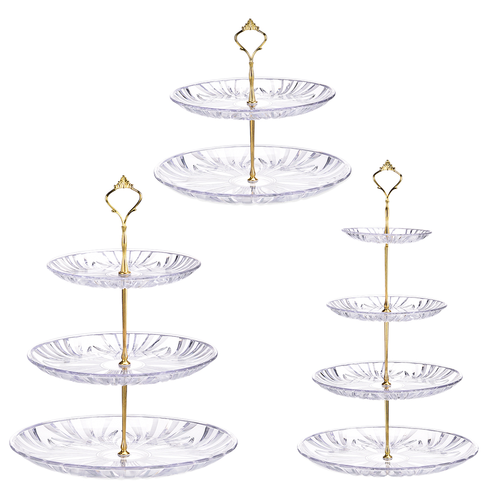 3-Tier Wrought iron Cake Treat Stand Cupcake Dessert Pastry Tiered Serving Tray
