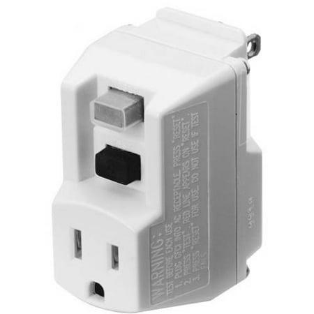 TRC 90033 Shockshield White Portable GFCI Plug with Surge (Fault Plug)