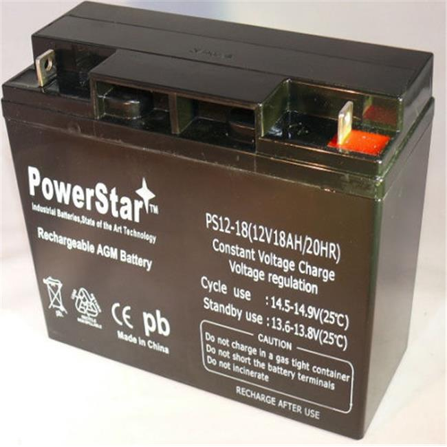 PowerStar PS12-18-60 12V 18Ah Upgrade Battery For Modified Power Wheels, 2 Year Warranty
