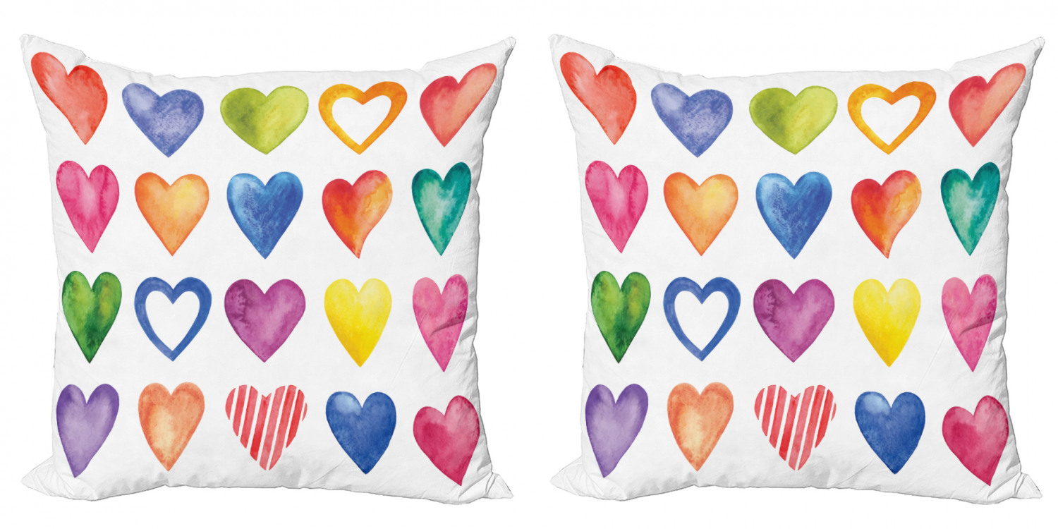 Heart Throw Pillow Set of 2 for Valentine/'s Day
