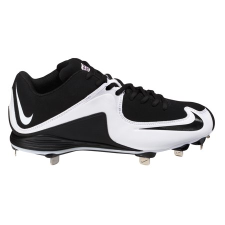 Nike Mens Air Mvp Strike 2 Metal Baseball Cleat   Black White   6 5