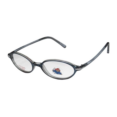 New Paddington Bear 115 Unisex/Boys/Girls/Kids Designer Full-Rim Blue / Crystal Spring Temples Children Unisex Frame Demo Lenses 44-16-125 (Boys Eyeglasses Frames)