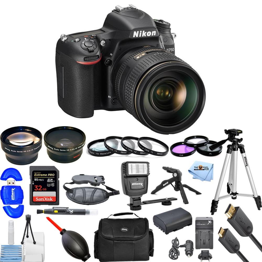 Nikon D750 24.3MP DSLR Camera with 24-120mm Lens (Black)!! MEGA KIT BRAND New!! by Nikon