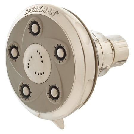 Low Flow Pump Heads - Speakman Napa Anystream Adjustable Low Flow Shower Head, Brushed Nickel