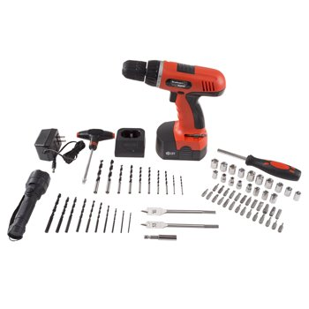 Stalwart W550024 18-V Cordless Drill with 78-Piece Drill Set