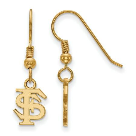 Sterling Silver w/GP LogoArt Florida State University XS Dangle Earrings Florida State University Earrings