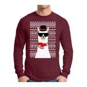Awkward Styles Xmas Llama Ugly Christmas Sweater Long Sleeve T-shirt For Men