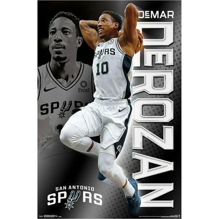 San Antonio Spurs Team Poster (DeMar DeRozan San Antonio Spurs 22.4'' x 34'' NBA Players Poster - No Size)