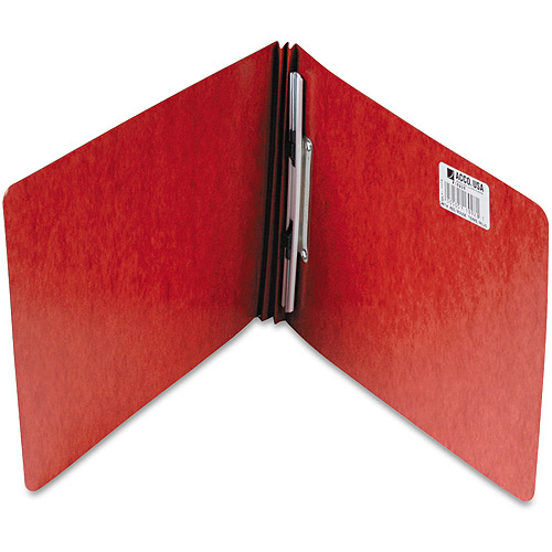 "ACCO Pressboard Report Cover, Spring Clip, Letter, 2"" Capacity, Earth Red"