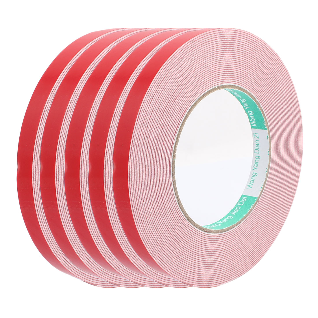 5pcs 10M 12mm x 1mm Dual-side Adhesive Shockproof Sponge Foam Tape Red White