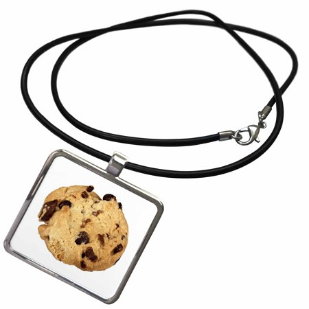 3dRose Image of Macro Chocolate Chip Cookie - Necklace with Pendant (ncl_262515_1)