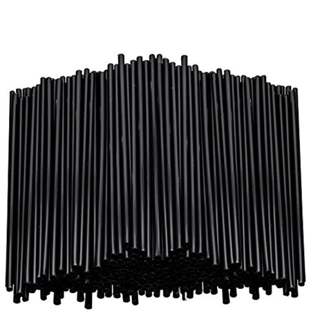 Stirring Straws for Coffee Cocktail Black Plastic Sipping Stirrers 5 Inches Long Drink Stir Sticks For Bars Cafes Restaurants Home Use (5000, 7.5 Inches)
