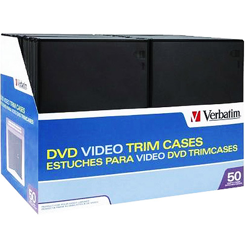 Verbatim DVD Video Trimcases - Black 50-Pack