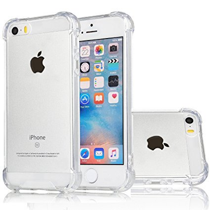 (For Apple iPhone Premium Crystal Clear TPU Bumper Case For iPhone: SE)