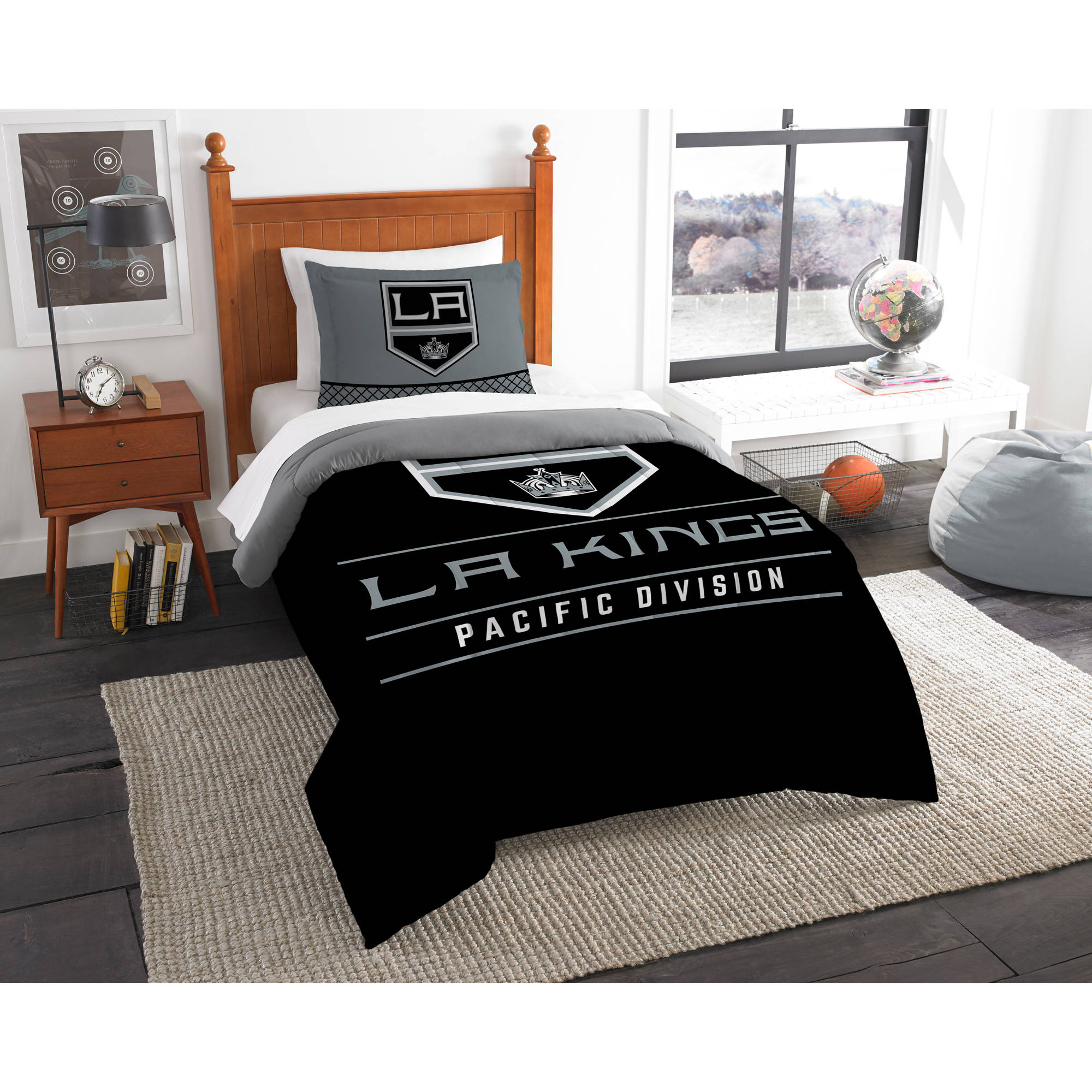 "NHL Los Angeles Kings ""Draft"" Bedding Comforter Set"