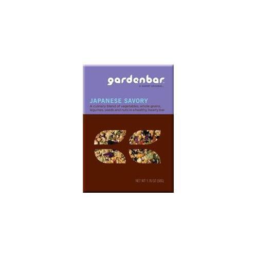 Gardenbar Healthy Vegan Japanese Savory Snack Bar, Pack of 12