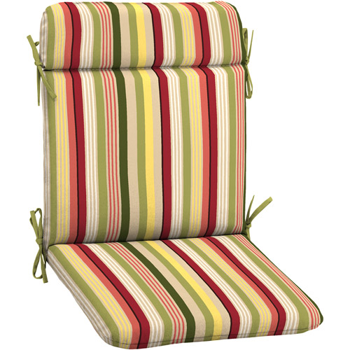 Mainstays Outdoor Wrought Iron Chair Pad, Aloha Tropical Stripe