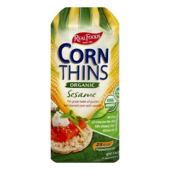 Real Foods Multigrain Corn Thins 25 Ea Pack Of 6 Walmart
