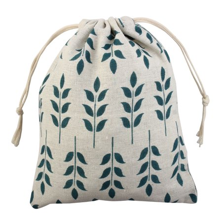 Small Drawstring Pouch (Travel Leaf Pattern Sundries Storage Candies Gift Pouch Drawstring Bag)
