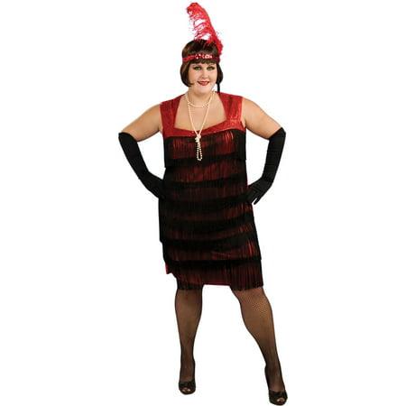 Flapper Adult Halloween Costume - Flashy Flapper Costume