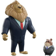 Zootopia Mayor Lionheart and Lemming Businessman Small figures