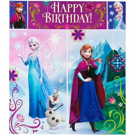 Hollywood Scene Setters (Disney Frozen Birthday Party Scene Setters Wall Decorating Kit,)