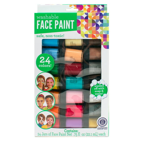 Kids Crafts Face Paint Jars, 24pk by Horizon Group USA - Cute Face Paints For Halloween